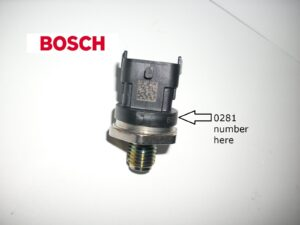 Bosch fuel pressure sensor - find the part number pictures