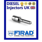 NEW GENUINE FIRAD SET OF 4 NOZZLES DLLA150P110, 0433171100 RENAULT 1